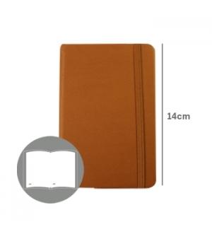 Bloco Notas Liso 14x9cm Semi Pele Camel 116 Flh (agenda)
