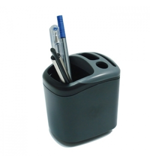 Porta Lapis Plastico Quadrado com 4 compartimentos