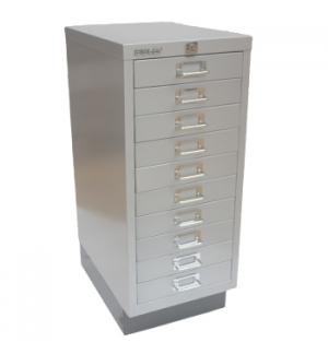 Movel Metal com Fecho 673x279x429mm com 10 Gavetas Silver