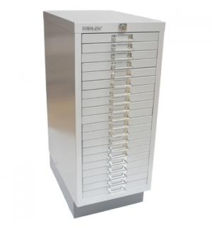 Movel Metal com Fecho 673x279x429mm com 20 Gavetas Silver