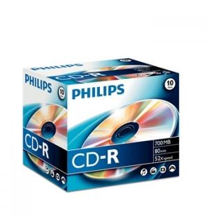 CD-R Philips 700MB 52x 80min Jewel Cx 10un
