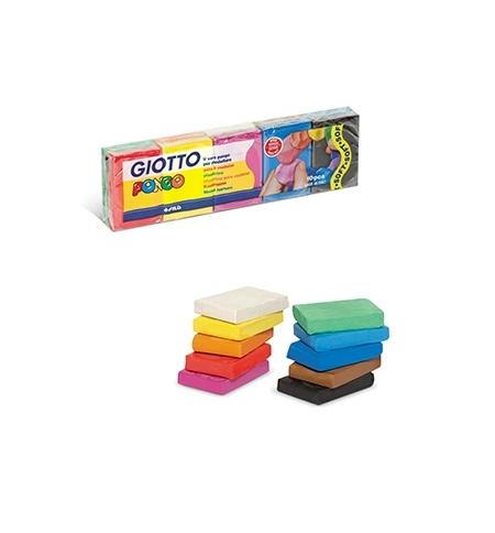 Plasticina Giotto Pongo Soft Conjunto Sortido 10x50gr