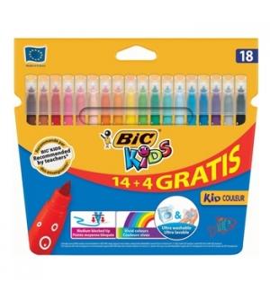 Marcador Feltro Bic Kids Couleur 18 Cores (144)
