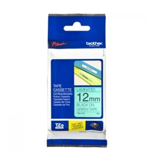 Fita para Gravacao P-Touch 12mm Verde/Preto