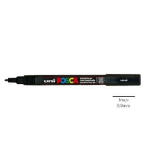 Marcador Uniball Posca PC3M 09mm Preto -1un