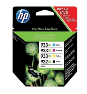 Combo Pack 4 Tinteiros HP OfficejetPro 6100 N932XL/933LX