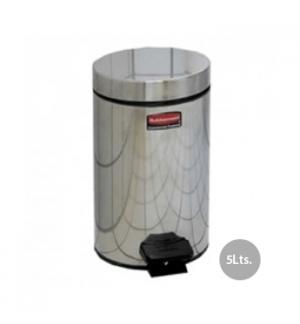 Papeleira Metal Aco Inox c/ Pedal 5 Litros