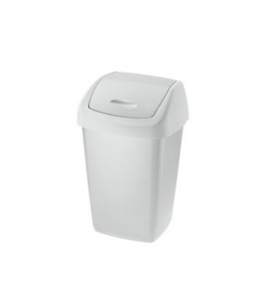 Papeleira Tampa Basculante 10 Litros Branco