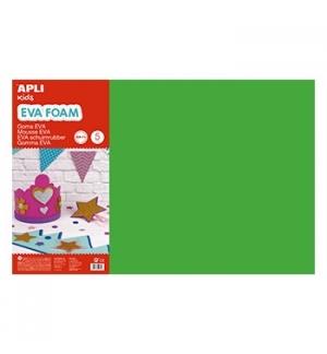 Placa de Cor Musgami 40x60cm 2mm Verde Escuro 5Fls