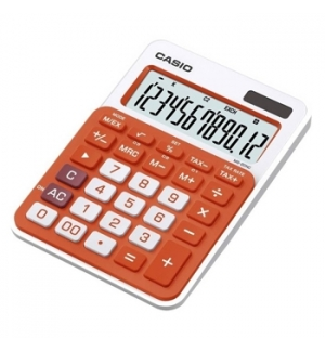 Calculadora de Secretaria Casio MS20NC Laranja 12 Digitos