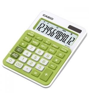 Calculadora de Secretaria Casio MS20NC Verde 12 Digitos
