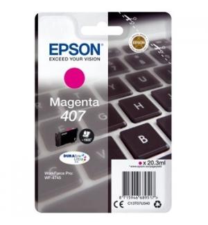 Tinteiro Epson 407 Magenta C13T07U340 20,3ml 1900 Pág.