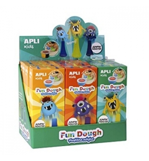 Expositor Apli Kids Fun Dough Jumping Monsters 12un