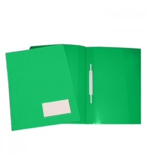 Classificador Plast2000 Capa Opaca Verde c/Ferragem Pack 10