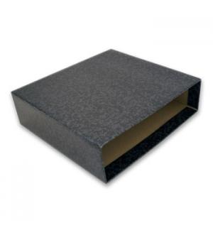 Caixa p/Pasta Arquivo L80 Cartao Micro Marm Preto 310x290