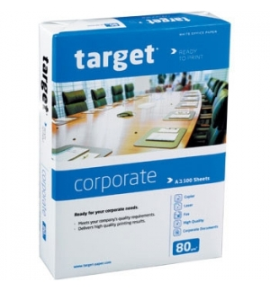 Papel Fotocopia A3 80gr Target (Corporate) 5x500 Folhas