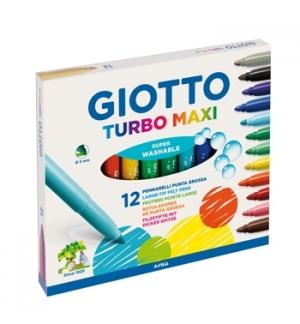 Marcador Feltro Giotto Turbo Maxi 12 Cores