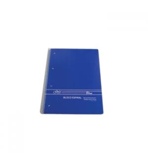 Caderno Espiral A4 Liso 70gr 80 Folhas Azul - 1un