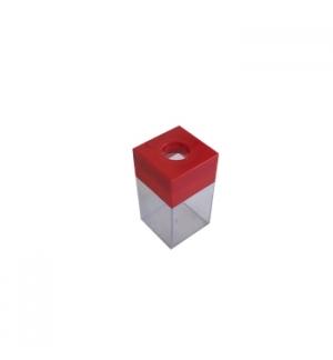 Porta Clips Vermelho Magnetico Quadrado 1un