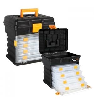 Caixa de ferramentas 14 pol c/4 cxs de organizao