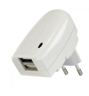 Carregador dual USB 220VAC/5VDC 2A 10W