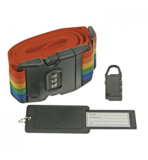 Correia p/ proteco de bagagem c/ cadeado de combinao