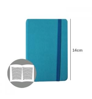 Bloco Notas Pautado 14x9cm Semi Pele Azul Turquesa 116F