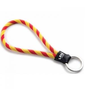 Porta chaves tubular c/argola leisshort vermelh/amarelo