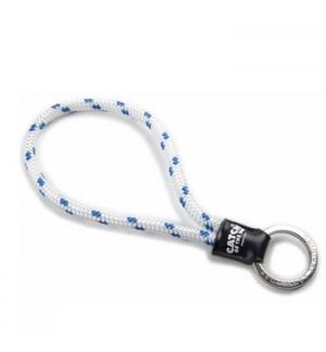 Porta chaves tubular c/argola catchoftheday branco/azul