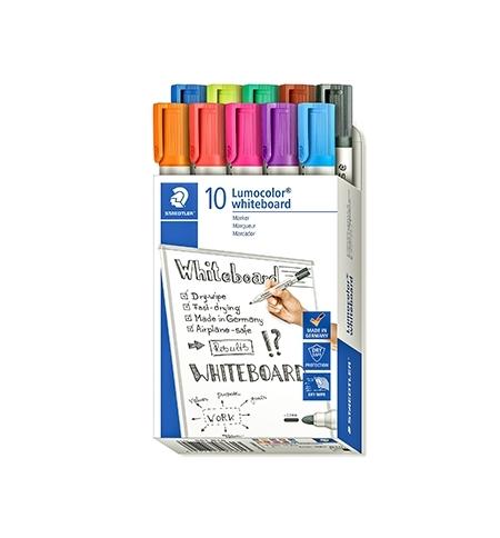 Marcador Quadros Brancos Lumocolor 351 Pack 10 Cores