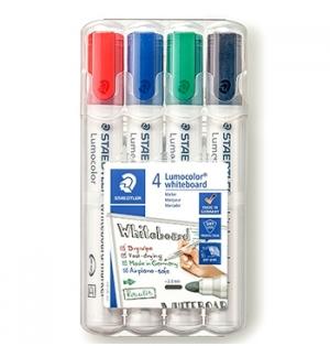 Marcador Quadros Brancos Lumocolor 351 WP4 Estojo Box 4un