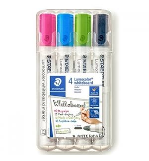 Marcador Quadros Brancos Lumocolor 351 WP4-1 Estojo Box 4un