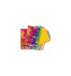 Papel Fotocopia A4 80gr Resma 100 Fls c/5 Cores Suaves
