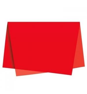 Papel Seda 51x76cm Pack 25 Folhas Vermelho