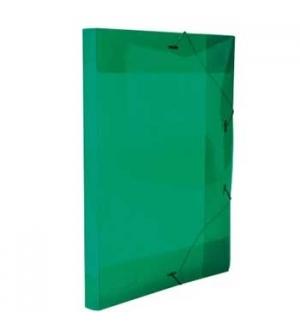 Porta Documentos Plast Transp A4 25mm C/Elast Verde