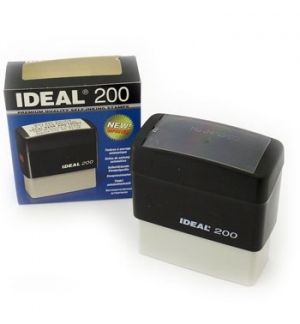 Carimbo 65x25mm Autotintavel Ideal Mod 200 Preto