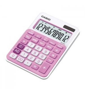 Calculadora de Secretaria Casio MS20NC Rosa Claro12 Digitos