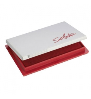 Almofada Carimbos N2 7x11cm Scriva Vermelho