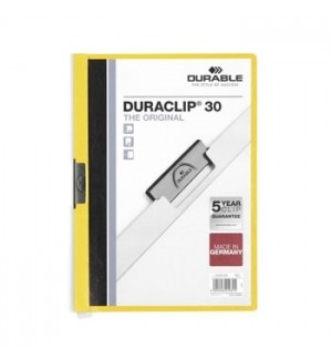 Classificador Clip Lateral Durable 2200 Amarelo-1un
