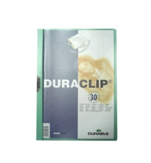 Classificador Clip Lateral Durable 2200 Verde-1un