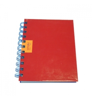 Caderno Espiral Capa Dura Ambar SimpleC A6 Liso 120 Folhas