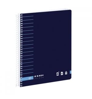 Caderno Espiral Ambar A5 C/Azul Liso 80F 70Grs Basic