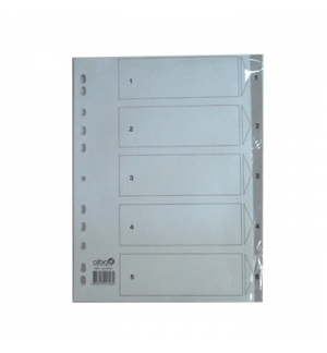 Separadores Plastico Numerados (1 a 5)