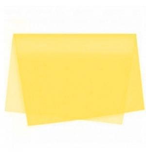 Papel Seda 51x76cm Pack 25 Folhas Amarelo Ouro