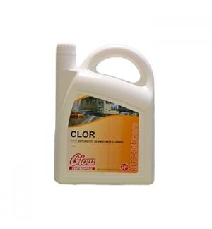 Detergente Desinfetante Clorado p/Pavimentos GLOW 5 Litros