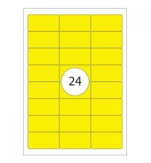 Etiquetas 64x339mm Apli Amarelo Floures 20 Folhas A4 480un