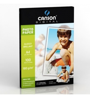Papel Fotografico Canson Everyday Gloss 180g A4 p/InkJet100F