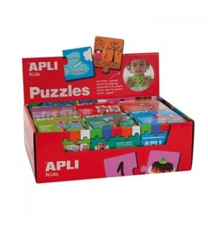 Expositor Puzzle Apli Kids 6un (Azul)