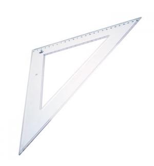 Esquadro Plastico Cristal Smart Office 45 - 27cm - 1un
