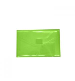 Bolsa Porta Documentos A8 com Fecho Velcro Transp Verde